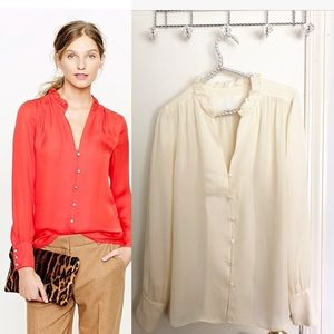 {J.Crew Collection} silk georgette blouse